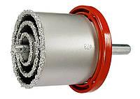Набор коронок по керамич. плитке, 33-53-67-73-83 мм + напил., в пласт.боксе, 6-гран.хвост. Matrix 72