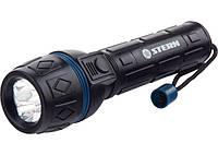 Ліхтарик світлодіодний, ударостійкий корпус, вологозахищений, 3 яскравих світлодіода, 2хАА, Stern 90511