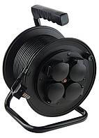 Удлинитель силовой на кабельной катушке, 3*1,5мм*25м, 4 розетки с крышкой, 16A, IP44, Stern 95707