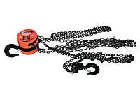 Таль цепная, 1 т, h подъема 2,5 м, расстояние между крюками 300 мм Matrix 519335