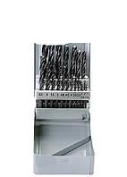 Набор сверл по металлу, 1-10 мм (через 0.5 мм+3.2и4.8 мм), HSS, 21 шт., мет.бокс, цилин.хв. Sparta 7