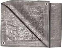 Тент, строительный 4 х 5м, серебро, 140г/м2