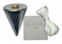 Отвес каменщика, металлический с пластиной для крепления, 200 г, код 704-222