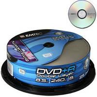 DVD+R диск для видео Emtec 8.5GB 8 DL  Cake boх 10