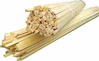 Штапик деревяный 1,3м, 100шт, код 8-013