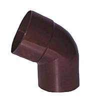 Колено для водосточной трубы ду90*72 wavin rosa