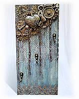 Ключница настенная ручной работы Вешалка для ключей Подарок на день рождения юбилей