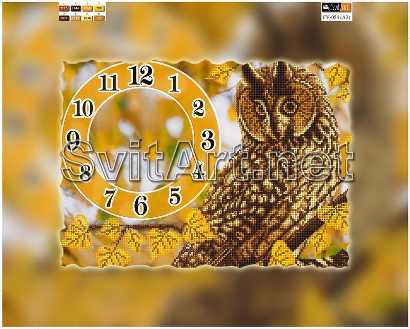 Схемы вышивок часы сова