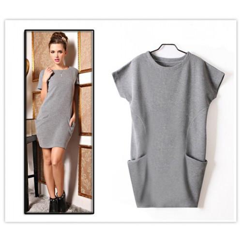 Цельнокроеное платье с коротким рукавом фото