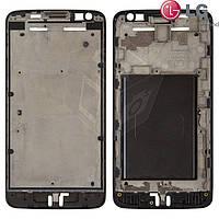 Рамка крепления дисплея для LG Optimus L90 D405, черный, оригинал