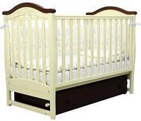 Детская кроватка Верес Соня ЛД 3 (слоновая кость-орех) маятник + шухляда
