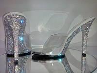обувь для фитнес бикини, боди фитнес. Gala-01 инкрустированная стразами