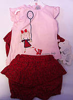 Комплект TWETOON Костюм короткий рукав футболка + юбка-шорты 116032 Flexi Турция