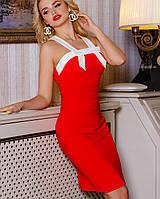Летнее платье-футляр | Нори jd красный
