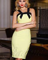 Летнее платье-футляр | Нори jd желтый