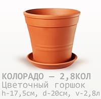 Горшок керамический для цветов Колорадо 17,5*20*2,8 литра