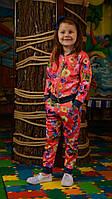 """Очень красивый костюм для девочек """"КОРАЛЛОВЫЕ ЦВЕТЫ"""" 116-140"""