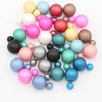Серьги-пусеты в стиле Dior (Диор), гвоздики. Разные цвета.