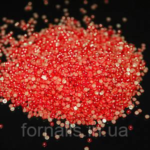 Полужемчуг красный 2 мм, 50 шт