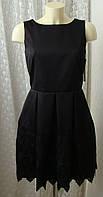 Платье модное черное кружево Closet р.44 6651