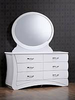 "Комод з дзеркалом DOMINI + дзеркало ""Евіта"" (білий глянець)"