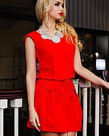 Льняное летнее платье | Албен jd красный