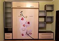 Шкаф-кровать с прямой УФ-печатью на ДСП, фото 1