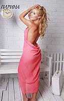 Пляжный халат/ платье/туника/парео с открытой спиной разные расцветки ПАРИНА Fleur lingerie