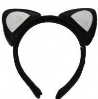 Обруч Ушки кошки Черные