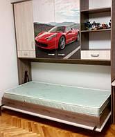 Откидная кровать-трансформер в детскую комнату для мальчика