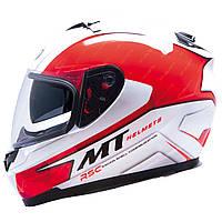 """Шлем MT BLADE SV BOSS  white\red  """"L"""", арт. 10052032"""
