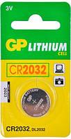 Батарейка GP CR 2032 Lithium литиевая, 3 V Вольта дисковая