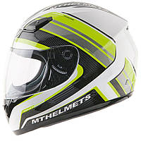 "Шлем MT IMOLA II OVERCOME matt white\yellow fluo ""XL"", арт. 10872471"