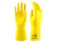 """Перчатки латексные желтые M """" Блеск """", 1 пара"""