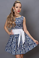 Светлое платье летнее с белыми цветами