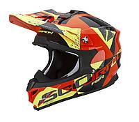 Шлем внедорожный Scorpion VX-15 EVO Air Akra black/orange/yellow, XL