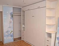 Шкаф-кровать со шкафом-купе с фотопечатью, фото 1
