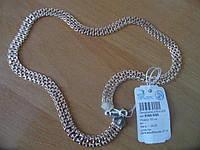 Серебряная Цепь  БИСМАРК 925 с Позолотой 585, 50 см