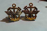 Эмблема железнодорожных войск, новая, золото