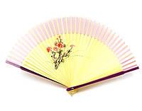 Ручной веер из бамбука и шелка Цветок