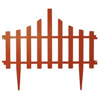 Забор для газона пластиковый 4 секции коричневый Алеана 114042