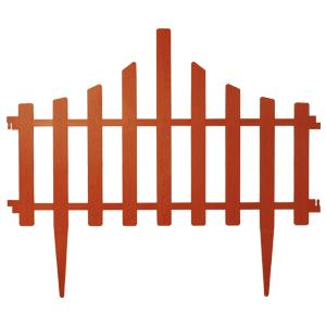 """Забор для газона пластиковый 4 секции коричневый Алеана 114042 - """"Bagus"""" - интернет-магазин в Киеве"""