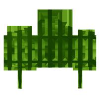 Забор для газона пластиковый 4 секции зеленый Алеана 114042-1