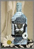 """Бутылка в подарок """"Про любофф)))"""", декупаж бутылки, подарок на новый год день рождения"""