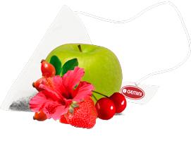 Чай фруктовий в пірамідках GEMINI 15 пир по 2,5 г