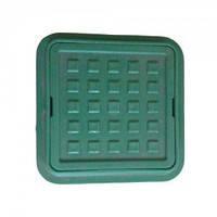 Люк квадратный Ромашка 260/370 (мини люк) зеленый
