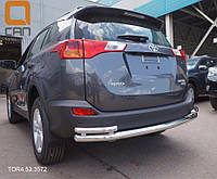 Защита заднего бампера Toyota Rav 4 2013+