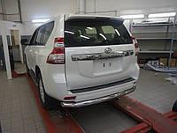 Защита заднего бампера Toyota LC Prado 150
