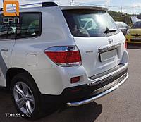Защита заднего бампера Toyota Highlander 2010+, фото 1
