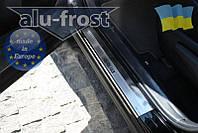 Накладки на пороги Alufrost для Toyota Rav 4 2013+, фото 1